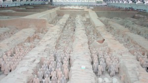 Bilde fra Terracotta-krigerne i Xian. Foto: Reisetilkina.com