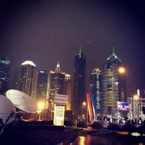 Et bilde jeg tok av Shanghai på natterstid. Foto: Reisetilkina.com