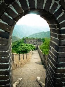Flott bilde jeg tok fra den kinesiske mur. Foto: Reisetilkina.com
