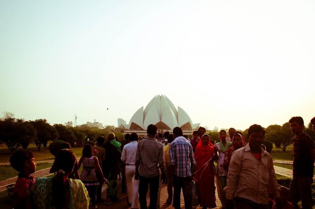 Indias Lotus Temple. Verdenskjent bygning. Foto: Reisetilkina.com