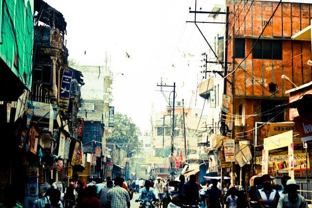 Bybildet i Varanasi. Foto: Reisetilkina.com