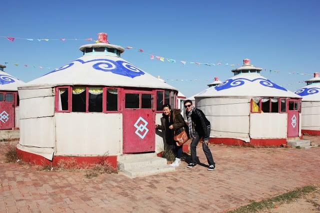 """""""Luxury-yurt"""", eller luksushytten, som vi fikk tildelt. Foto: Reisetilkina.com"""