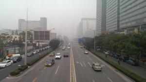 Bilde tatt på en dårlig dag i Beijing.