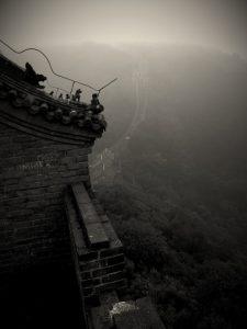 """Den kinesiske mur på en """"dårlig"""" dag."""